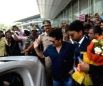 Sachin Tendulkar at Lucknow Airport