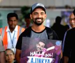 Ajinkya Rahane at Jaipur International Airport