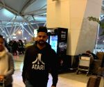 Suresh Raina seen at Delhi Airport