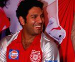 Cricketer Yuvraj Singh at IPL press meet.
