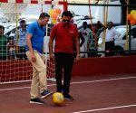 Ajit Agarkar, Daren Ganga at the launch of multi-functional sports complex