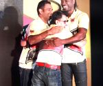 Dhoni, Gayle during a programme
