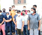 Crime Branch arrest 10 persons black - marketing of fake 'Injections' used as Life- Saving drugs in covid and black fungus treatment at PHQ in New Delhi