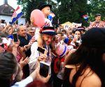 CROATIA-DONJI MIHOLJAC-FIFA WORLD CUP-CELEBRATION-DOMAGOJ VIDA