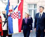 CROATIA ZAGREB EU URSULA VON DER LEYEN VISIT