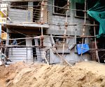 The construction building which was collapsed at Someshwara Nagar near NIMHANS