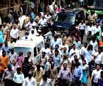 Narendra Dabholkar who was shot dead by two unidentified assailants in Pune