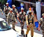 Uttarahalli (Karnataka): CRPF conducts flag march ahead of Karnataka polls