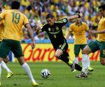 Brazil (Curitiba): FIFA World Cup 2014 Group B match Australia vs Spain. Match Belgium vs Russia.
