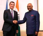 Prague (Czech Republic): Czech Republic PM meets President Kovind