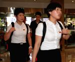 SOUTH KOREA-DAEJEON-TABLE TENNIS-DPRK TEAM ARRIVAL