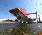CHINA DALIAN AIRCRAFT CARRIER LAUNCH CEREMONY