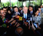 SYRIA DAMASCUS FM UN ENVOY MEETING