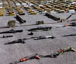 SYRIA DAMASCUS ARMY REBEL WEAPONS SEIZE