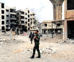SYRIA DAMASCUS SOLDIERS EASTERN GHOUTA