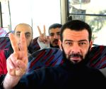 SYRIA DAMASCUS RELEASE FREED SOLDIERS
