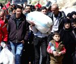 SYRIA DAMASCUS CIVILIANS EVACUATION EASTERN GHOUTA