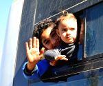SYRIA DAMASCUS REFUGEES RETURN