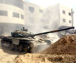 SYRIA DAMASCUS MILITARY ATTACKS REBEL