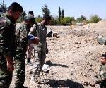 SYRIA DAMASCUS REBEL EXPLOSIVES