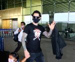:  Daniel Weber With His Childrens Spotted At Airport Departure