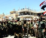 SYRIA DARAA ARMY CELEBRATION