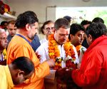 Rahul prays at Pitambara Peeth in MP