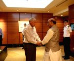 Rajnath Singh at luncheon meeting with Singapore Defence Minister