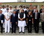 Rajnath Singh pays tributes at Kranji War Memorial in Singapore