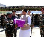 Dras (J&K): Rajnath Singh pays tributes to martyrs, inaugurates 'Memory Lane' at Kargil War Memorial
