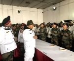 Siachen (J&K): Defence Minister Rajnath Singh visits Siachen Army Base Camp