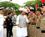 Rajnath Singh pays tributes at Indian National Army Memorial