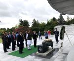 Rajnath Singh pays tributes at National Cemetery in Korea