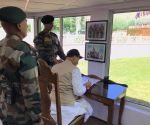 Dras (J&K): Rajnath Singh pays tributes to martyrs at Kargil War Memorial