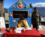 Rajnath Singh pays tributes to soldiers at Tawang War Memorial