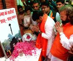 Manoj Tiwari pays tributes to the martyred CRPF personnel