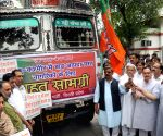 Delhi BJP send relief truck to flood hit J&K