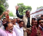 Satish Upadhyay celebrates win of ABVP