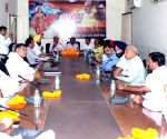 Satish Upadhyay during a meeting with party legislators
