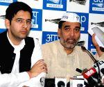 Raghav Chadha, Gopal Rai's press conference