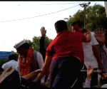 Kejriwal attacked during road show