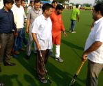Hockey match - Arvind Kejriwal, Manish Sisodia