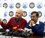 Arvind Kejriwal, Manish Sisodia's press conference
