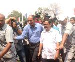 Arvind Kejriwal arrives at the State Assembly