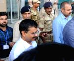 Arvind Kejriwal at Amritsar Airport