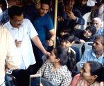 Delhi CM interacts with passengers