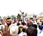 Sangrur (Punjkab): 2019 Lok Sabha elections - Arvind Kejriwal campaigns for AAP candidate Bhagwant Mann
