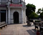 Connaught Place wears deserted look amid 'Janta curfew' to fight the coronavirus pandemic in New Delhi.