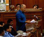 Delhi Assembly's budget session - Manish Sisodia