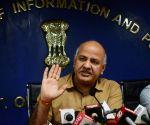 Delhi Dy CM's press conference